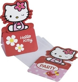 Einladungs-Set Hello Kitty
