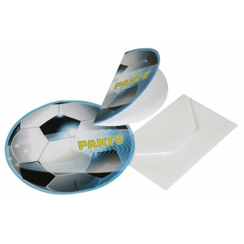 Einladungs-Set Fussball