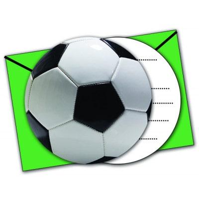 Einladungen Fussball grün