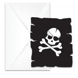 Einladungen Piraten schwarz