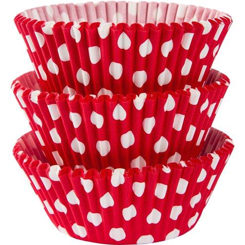 Cupcake Förmchen Polka dots rot